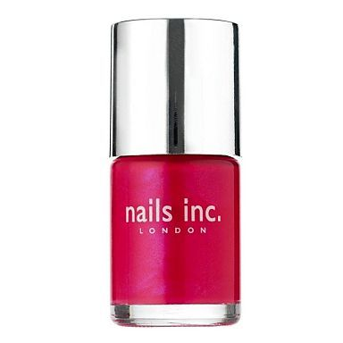 Monday must have! Treat yourself to a bright bold shimmering pink China town nail polish. Get the look at Debenhams. Perfect for all ages and skin tones.