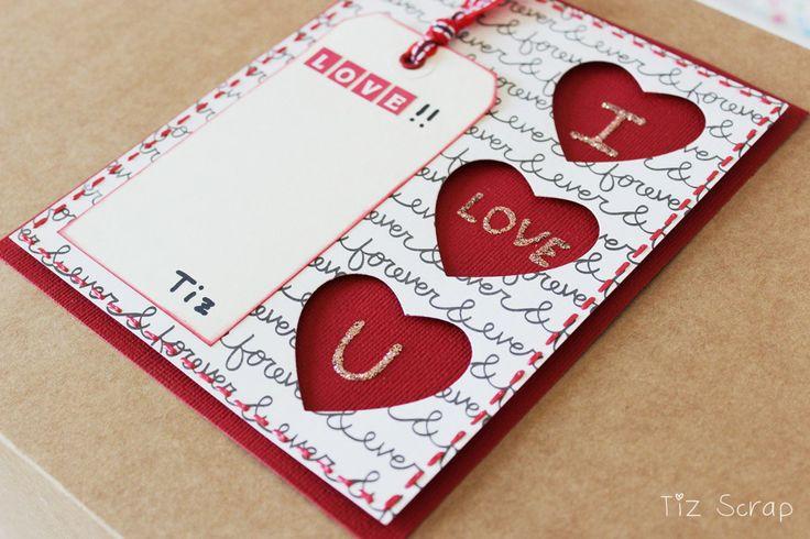 Precioso y romántico packaging. Por Tiz Scrap para www.upandscrap.com