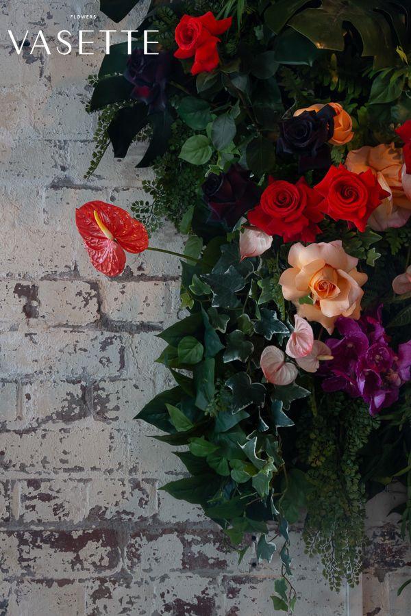 Bright Flower Design Florist Colour Wedding Event Florist Flowers Art Vasette Melbourne Anthurium R Flower Wall Flower Arrangements Event Flowers