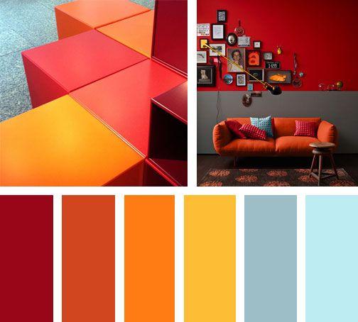 Para estos días incandescentes, una paleta de colores que sube y baja provocando una sensación muy HOT, a través de sus tonos rojos, naranjas y amarillos.  Espacio vía: vonderhude