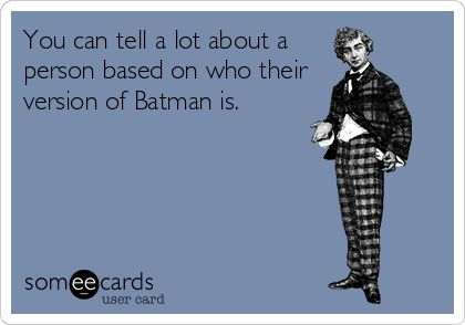 I will always love Christian Bale, but Michael Keaton is Batman.