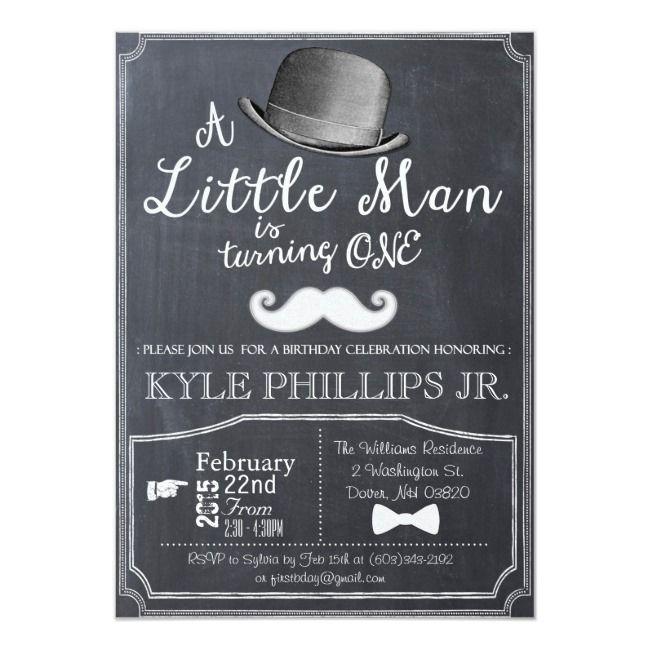 Create Your Own Invitation Zazzle Com Little Man Birthday