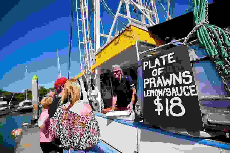 Buy prawns straight from the trawler at Seafood Extravaganza #portdouglas #pdcarnivale