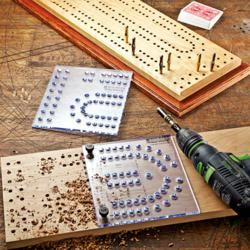 Rockler Introduces New, XL Cribbage Board Template Kit and Pegs - Template Kit Simplifies Game Board Construction