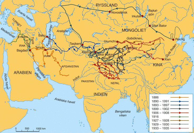 Map of Trade Routes on the Silk Road