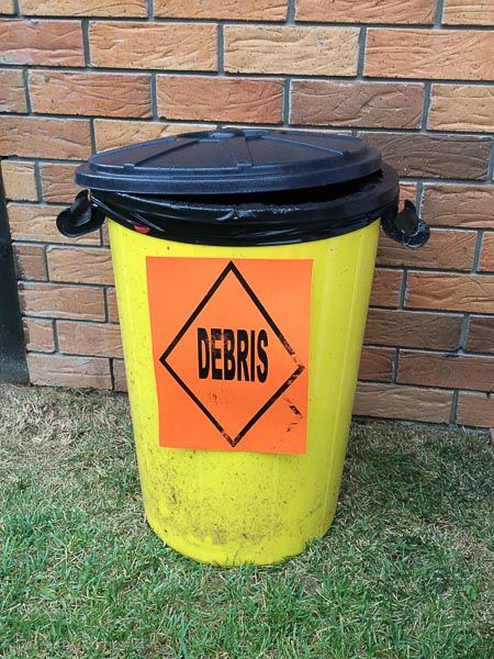 themed bin construction party