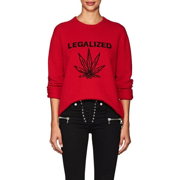 "ADAPTATION Women's ""Legalized\"" Cashmere Oversized Sweater ($995) ❤ liked on Polyvore featuring tops, sweaters, red, over sized sweaters, red cashmere sweater, oversized sweaters, red top and crewneck sweaters"