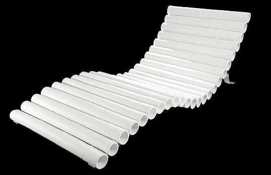 Pvc chair diy pvc pinterest this weekend chaise for Pvc pipe lounge chair