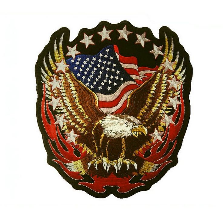 Patriotic Eagle American Flags Patch