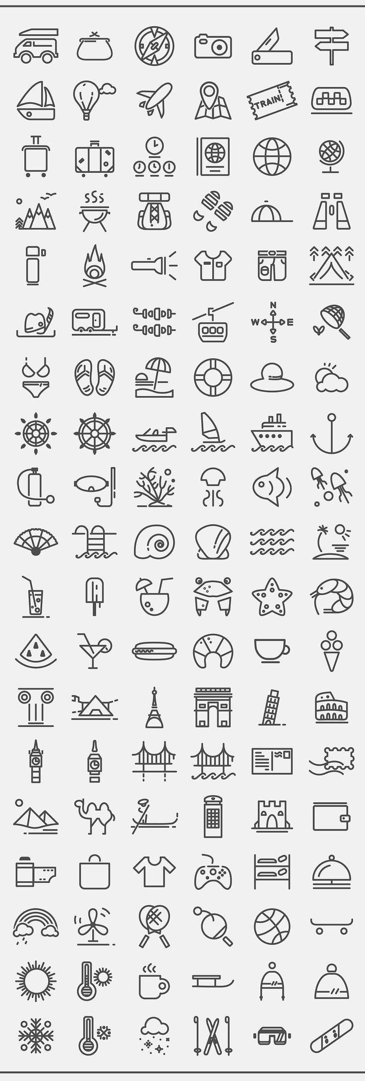 Free Travelling icon set on Behance: