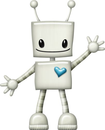 Robot with blue heart