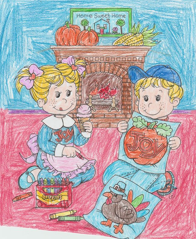 Joy coloring sweepstakes entry from McKayla age 9 from CO! #bringJOYhome #holidays
