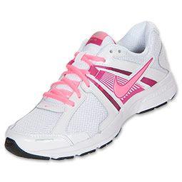 Women's Nike Dart 10 Running Shoes  FinishLine.com   White/Fusion Pink/Metallic Silver