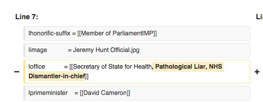 People are vandalising Jeremy Hunt's Wikipedia page and every edit is rude and superb | The Poke