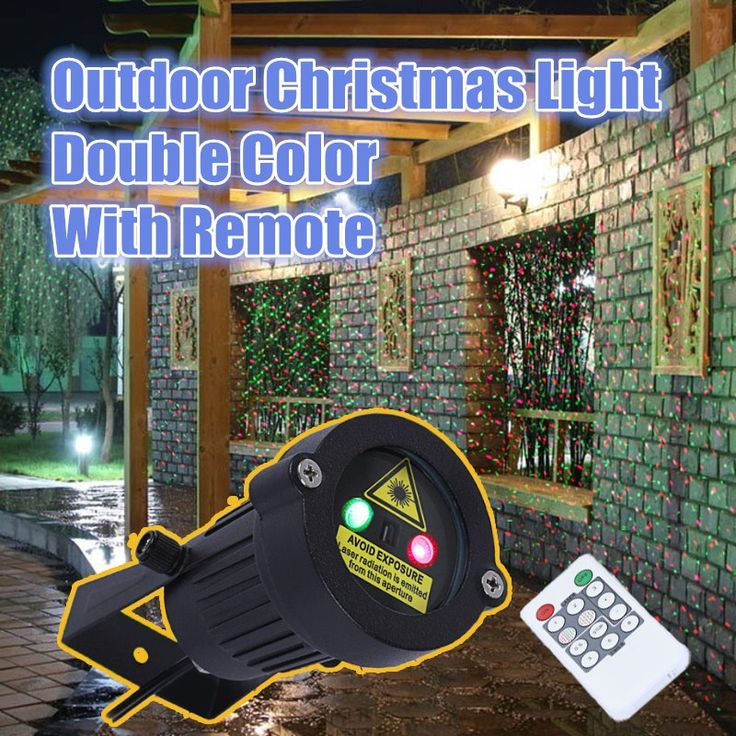 Outdoor Garden Decoration Waterproof IP65 Christmas Laser Light Star Projector Showers Red Green Static Twinkle With IR Remote