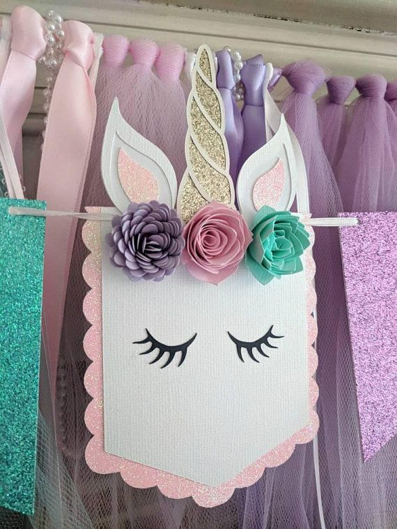unicorn party favors wall art Baby girl gift Unicorn birthday party decorations Unicorn party wall hanging 3d papercraft Instant download