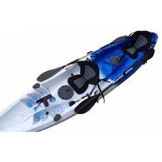DOUBLE KAYAK SINGLE FISHING KAYAK TANDEM 2 TWO SEAT KAYAK CANOE + SEAT + PADDLE