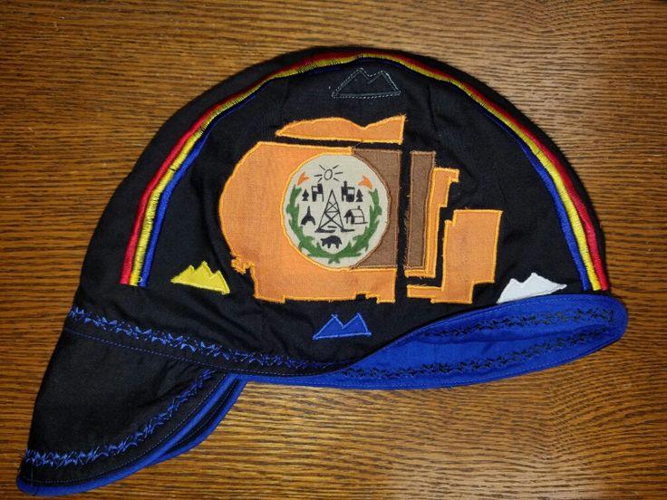 Black and Blue Navajo Nation Flag Welding cap