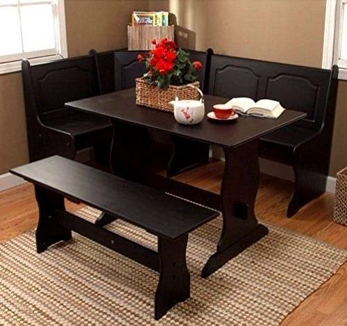 Corner Dining Nook Set Breakfast Kitchen Home Furniture Bench Table Comfort Seat #CornerDiningNook