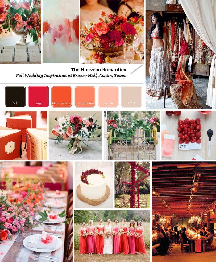 Crimson + Neutral Fall Wedding Inspiration   The Nouveau Romantics