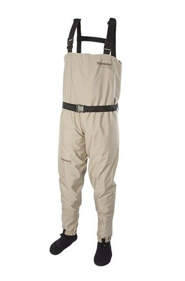 Ranger Breathable Chest Waders  The conventional stockingfoot chest model features a front flap pocket, 4mm neoprene socks, built-in gravel guards, with lacing clips, plus an adjustable webbing wading belt The fully adjustable webbing braces feature a rear elasticated section for comfort when bending down and are fully removable if required.