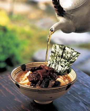 Japanese rice with hot tea or stock - Chazuke お茶漬け