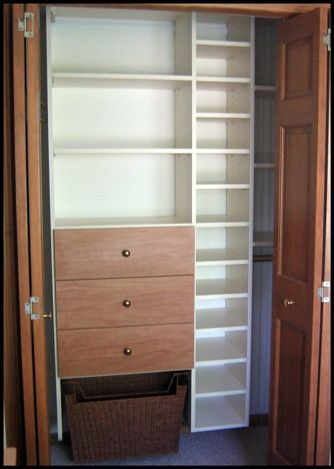 Small Walk In Closet | California Closets Small Space Walk In Shown In  Pearwood