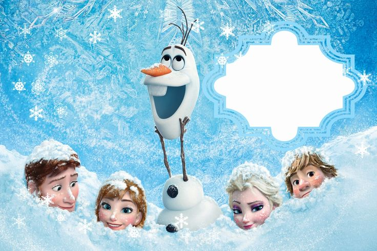 Frozen: Free Printable Cards or Party Invitations. - Is it for PARTIES? Is it…