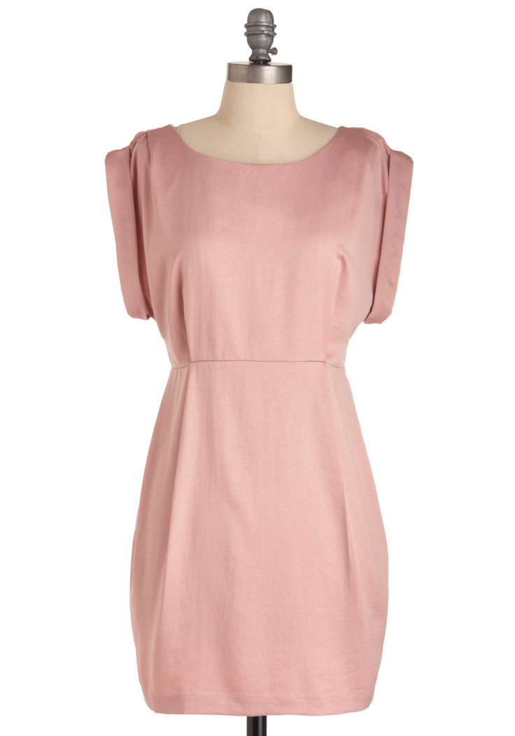 """""""Shower With Compliments"""" short retro pink sheath dress from ModCloth.: 44 99, Bridesmaids Option, Pretty Pink, Pale Pink, Sweet Pink, Bridesmaids Dresses, Shower Dresses, Bridesmaid Poss"""