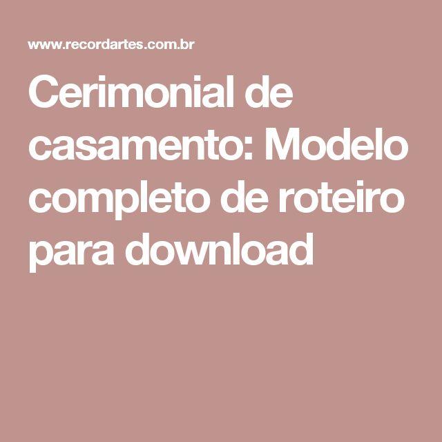 Cerimonial de casamento: Modelo completo de roteiro para download