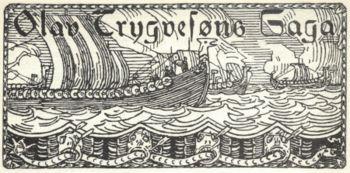 Olav Tryggvasons saga. Håkon jarl hadde styrt Norge som danskekongens mann, men til slutt ble han for egenrådig og gjorde opprør mot den danske overhøyheten. I følge sagaen ble han drept av sin trell Kark, og trønderne ønsket seg ny konge. Frem fra historiens mørke trer en mann som skulle bli kjent som Trondheims grunnlegger. Olav Tryggvason kom til Norge etter å ha levd det meste av sitt liv i utlandet, og ble Norges nye konge i 995.