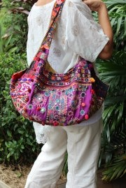 LALOOM Banjara bags are made by artsans found in Rajasthan. They use antique fabrics  lovingly hand embroidered by the the Banjara people Each handbag is unique in the fabrics used and each panel of the handbag is from a different cloth. The vivid colours of Rajasthan are a feature of these amazing handbags.
