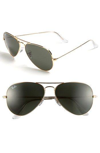 Ray-Ban 'Original Aviator' 58mm Sunglasses. LOOOOOOVE!!!!!