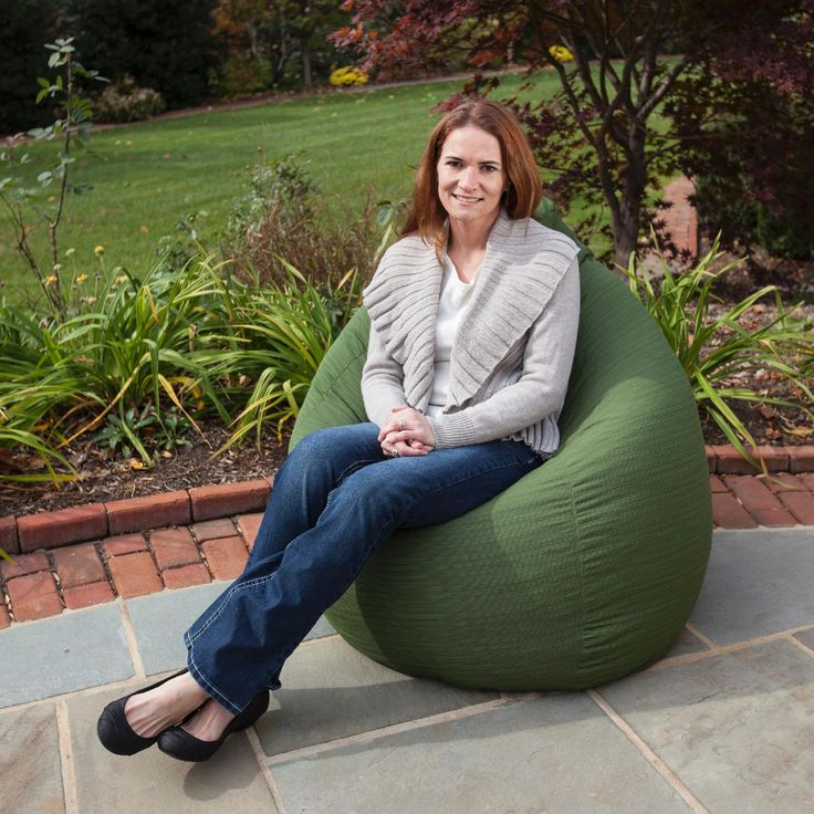 Gold Medal Outdoor/Indoor Sunbrella™ Weather Resistant Bean Bag - Contemporary Collection