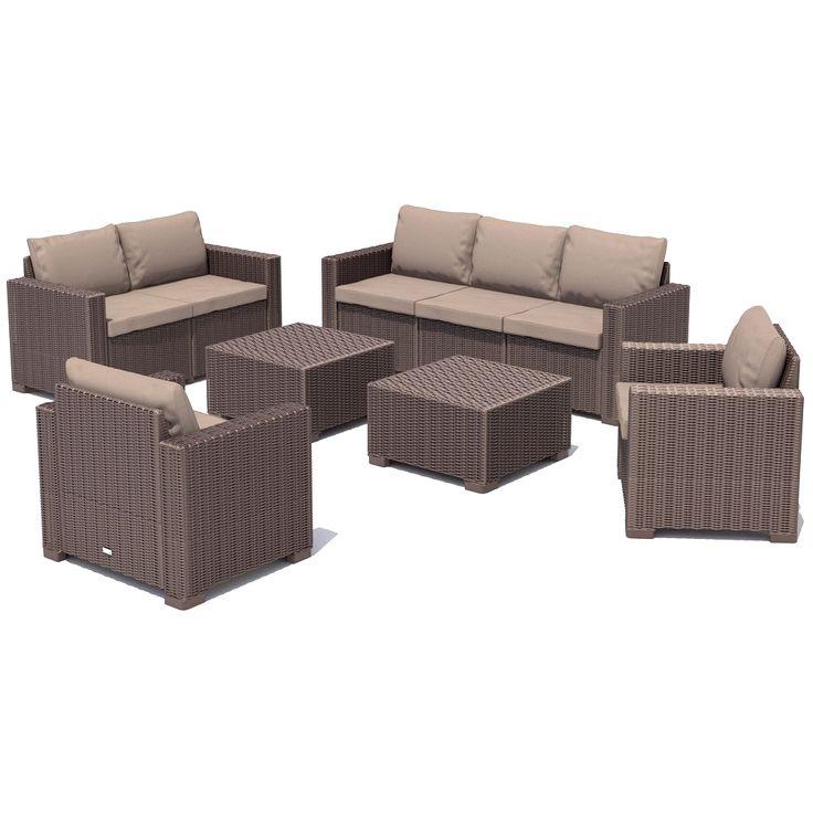 die besten 25 gartenm bel lounge set ideen auf pinterest. Black Bedroom Furniture Sets. Home Design Ideas