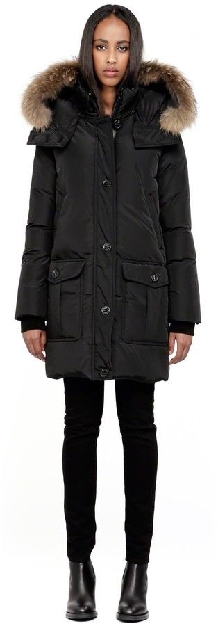 Long Black Down Coat | Down Coat