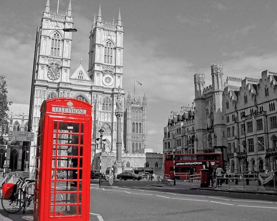 London Photography Phone Booth Westminster Abbey by HazyTone