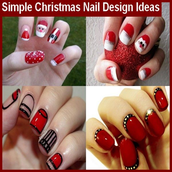 Simple Christmas Nail Design Ideas #ChristmasNail #NailDesign #NailColors - Best 25+ Simple Christmas Nails Ideas On Pinterest Xmas Nails