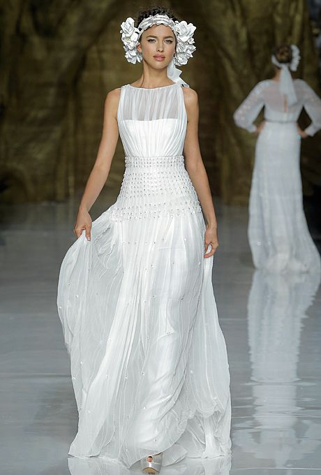 Brides: Pronovias Wedding Dresses - Spring 2014 | Bridal Runway Shows | Wedding Dresses and Style | Brides.com