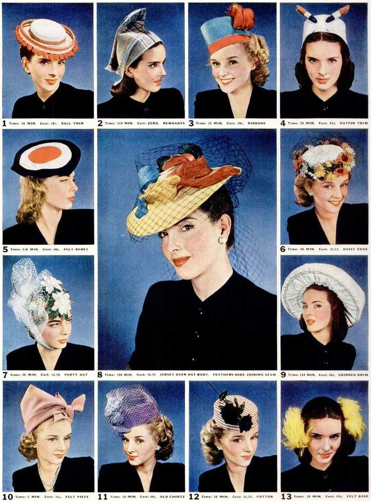 Who still likes to wear a hat? (I do! Not any of these though...)