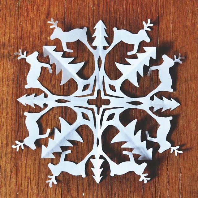 Reindeer Snowflake Pattern (via Zauberbear)