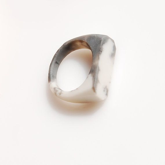 Marble Ring / size US 65 by Monopolka on Etsy