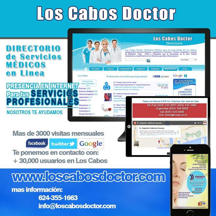 Los Cabos Doctor es un directorio de Servicios Médicos para la zona de Los Cabos
