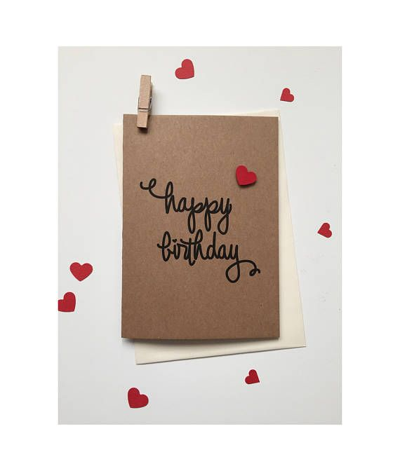 Happy Birthday Card  Love Heart Birthday Card  Birthday