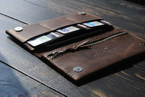 Leather iPhone 6 PLUS Wallet PERSONALIZED.Mens wallet.Womens wallet.Leather wallet phone case.Leather travel clutch.Leather travel organizer by AlexDemyanov on Etsy