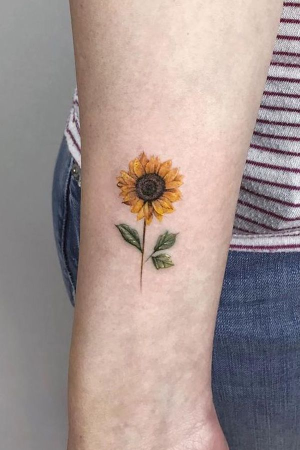 Small Jacaranda Tattoo: Are You Looking For A Classy And Beautiful Sunflower