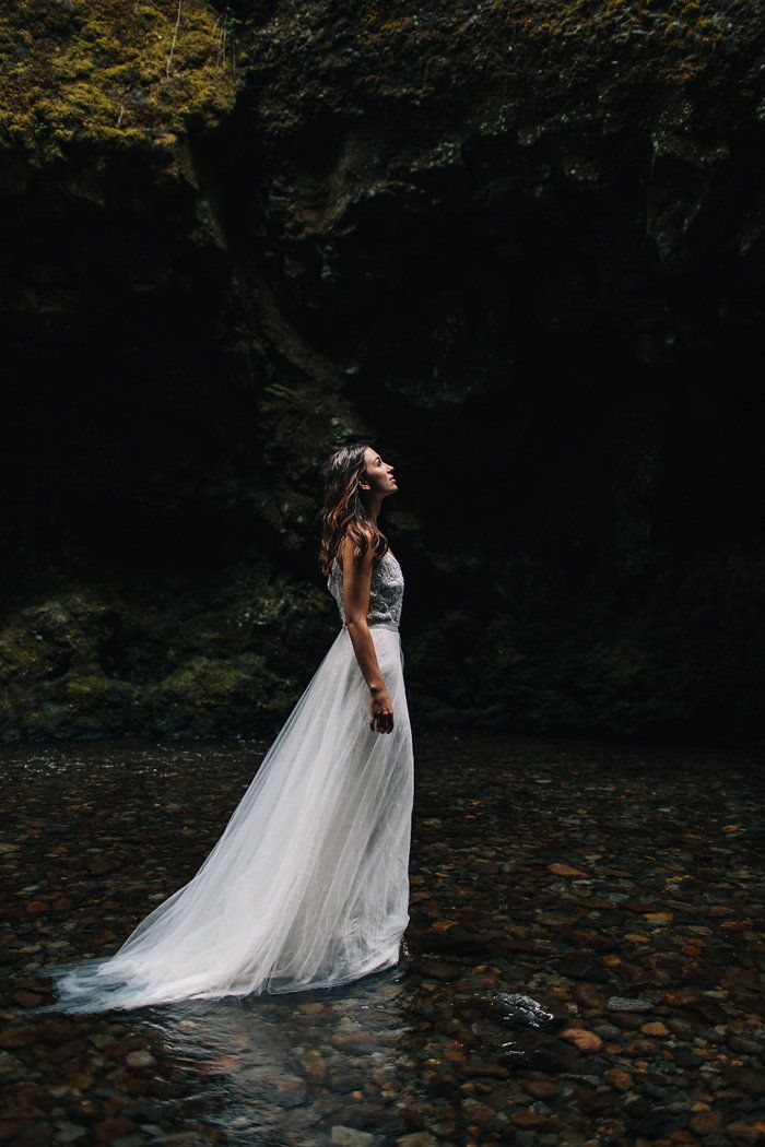 styled an elopement at oregon s oneonta gorge ever