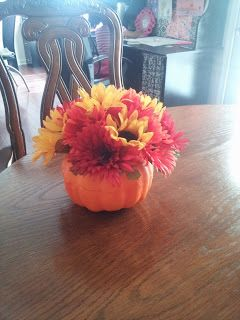 Dollar Tree Pumpkin Bouquet