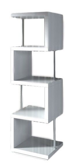 Stage 2 Modern White Shelving Unit