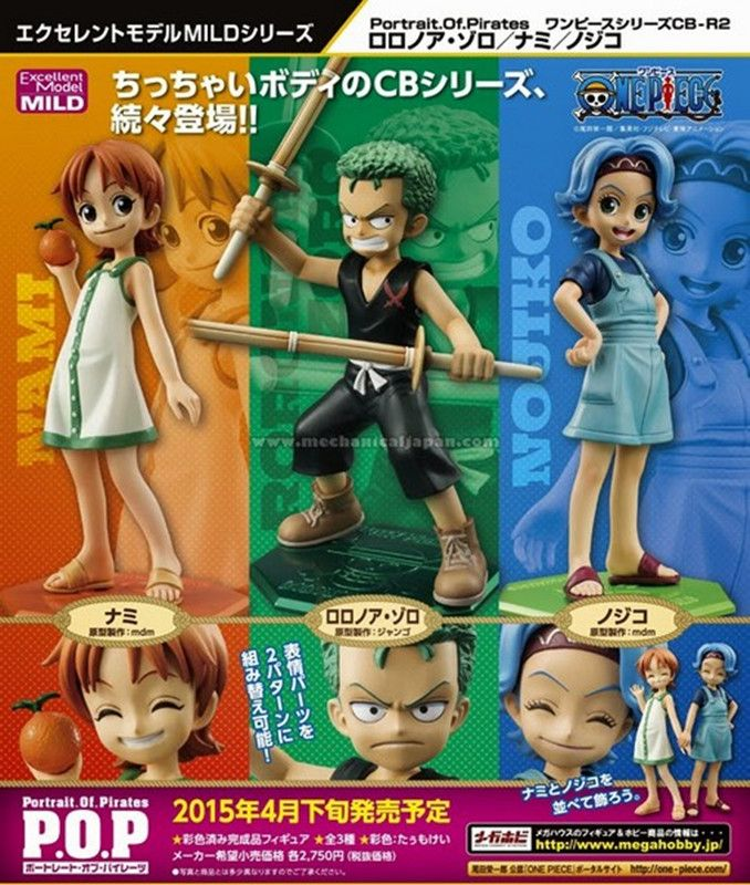 Anime One Piece POP Roronoa Zoro Nojiko Nami Rebecca Childhood ver. PVC Action Figure Collectible Model Toy Doll 11cm KA0346 #Affiliate
